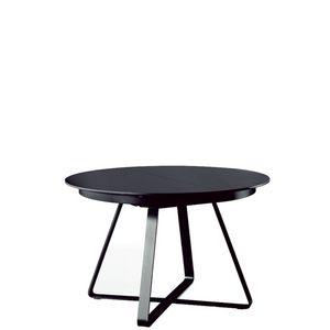 Midj - paul table ronde extensible 1m20 à 1m80 chêne noir - Ausziehtisch
