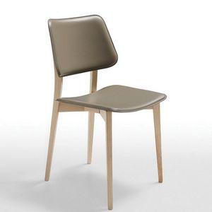 Midj - joe sl cu - chaise en chêne et cuir (lot de 2) - Stuhl