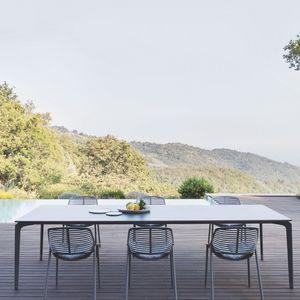 FAST - allsize - table alu et grès porcelainé 300 x 100 c - Gartentisch
