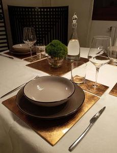 POSH - +sous-verre matbox in gold leaf - Tischset