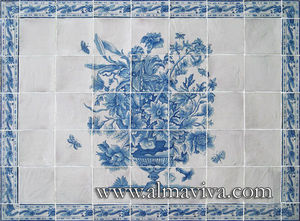 Almaviva - bouquet - Keramikplatte