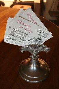 ARCADE DE BROCANTE D ORCY -  - Visitenkartenhalter