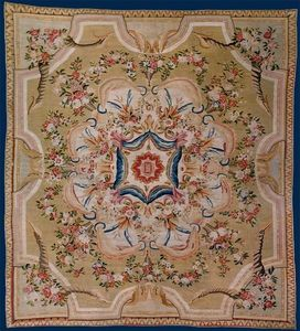 Galerie Hadjer - tapis ras d'aubusson - Aubusson Teppich