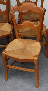 Antiquités Eric de Brégeot -  - Stuhl Mit Korbsitzfläche