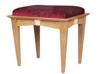 Gerard Lewis Designs - upholstered stool in oak - Hocker