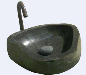 MEMOIRE DES ORIGINES - vasques pierre taillée - Waschbecken Freistehend