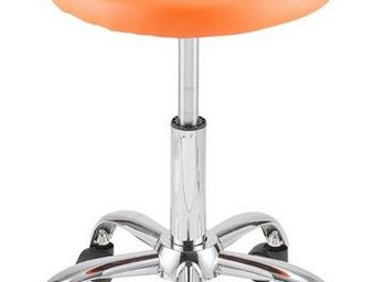 ID'CLIK - Tabouret De Bureau Orange Agathe - Verstellbarer Hocker