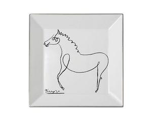MARC DE LADOUCETTE PARIS - picasso le cheval 1920 27x27cm - Deko Teller
