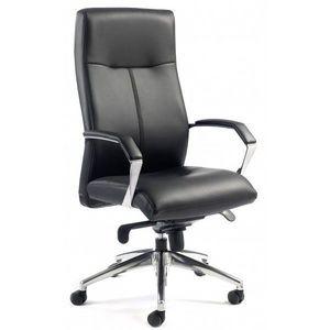 Office-news - classix en cuir noir. - Bürosessel