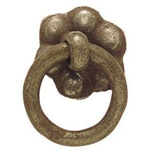 FERRURES ET PATINES - rosace de meuble avec anneau en fer vieilli style  - Türrosette
