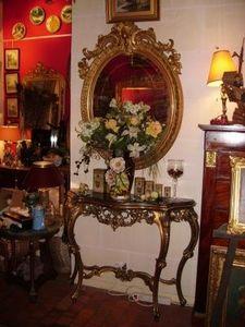 Art & Antiques - console louis xv en bois doré fin xixe - Konsolentisch