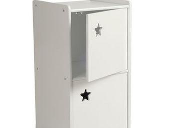 Miliboo - etoile meuble rangement 2 portes - Spielzeugbehälter (beweglich)