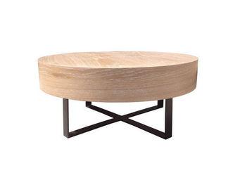 ZINA - wood - Runder Couchtisch