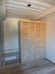 JASNO - porte persienne - Schrank Mit Stoffvorhang