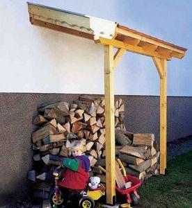 JARDIPOLYS - carport en epicéa abri bûches 200cm - Kaminholzregal