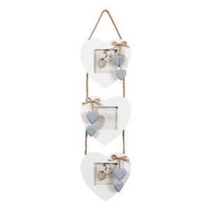 MAISONS DU MONDE - cadre triple coeur blanc - Mehrbilderrahmen