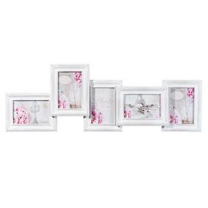 Maisons du monde - cadre 5 vues ninon bois blanc - Fotorahmen