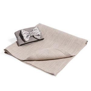 Maisons du monde - serviette noeud satin + rond - Tisch Serviette