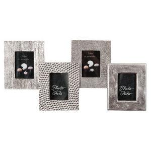 MAISONS DU MONDE - cadre 4 vues mix matiere silver - Mehrbilderrahmen
