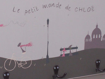 ICI LA TERRE - patère enfant triple paris - Kinder Kleiderhaken