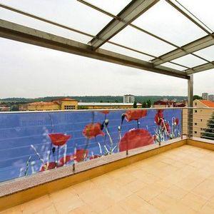 PRISMAFLEX international - brise-vue balcon coquelicot 3m - Hecke