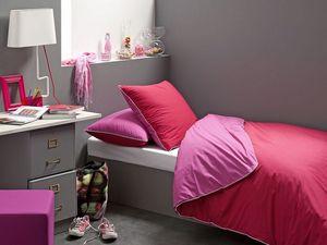 BLANC CERISE - housse de couette - percale (80 fils/cm²) - bicolo - Kinder Bettbezug