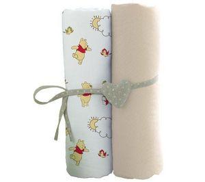 BABYCALIN - lot de 2 draps housse - 60x120 cm - winnie l'ours - Kinderbettwäscheset