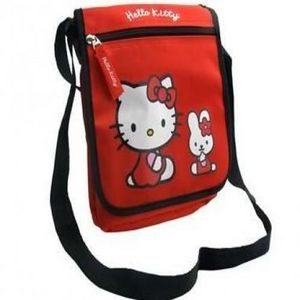 HELLO KITTY - sac a bandouliere hello kitty rouge - Umhängetasche
