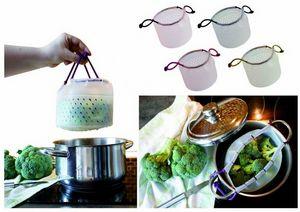 WHITE LABEL - panier de cuisson pour cuire et égoutter en silico - Dampfkorb
