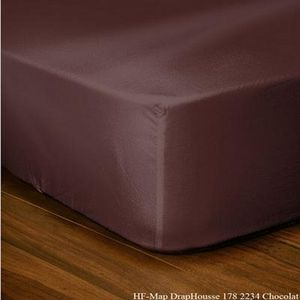 FASHION HOME - drap housse cacao - Spannbettlaken