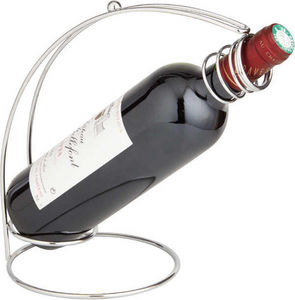 Aubry-Gaspard - porte-bouteille de table chromé en métal 18x15x24c - Wein Ständer