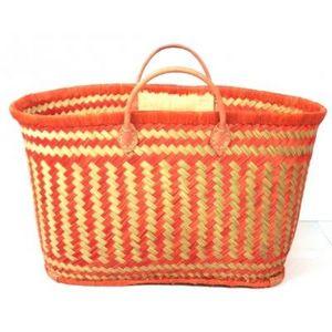 Aubry-Gaspard - cabas en rabane orange - Einkaufstasche