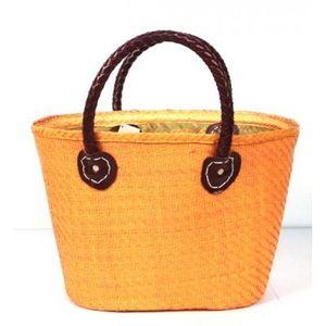 Aubry-Gaspard - cabas en palmier orange - Einkaufstasche