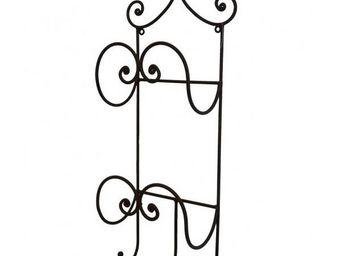 L'HERITIER DU TEMPS - porte serviette en fer marron 56cm - Handtuchhalter Mit Regal