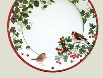 CASPARI - winter birds paper salad/ - Pappteller Mit Weihnachtsmotiv