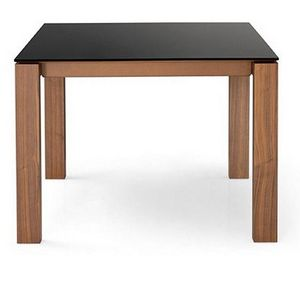 Calligaris - table repas sigma glass 140x140 de calligaris en v - Quadratischer Esstisch