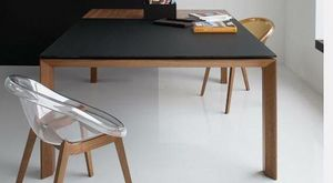 Calligaris - table repas extensible sigma glass 140x140 de call - Quadratischer Esstisch