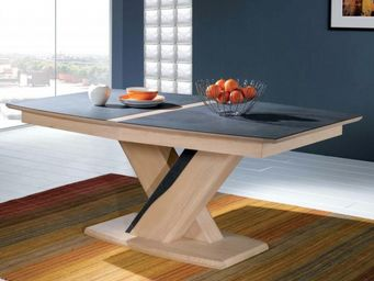 Ateliers De Langres - table tonneau ceram - Rechteckiger Esstisch
