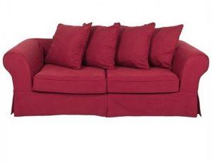 Home Spirit - canapé lit convertible harry microfibre rouge mate - Bettsofa