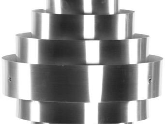 KOKOON DESIGN - suspension en aluminium brossé design industry 40x - Deckenlampe Hängelampe