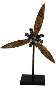 Antic Line Creations - hélice d'avion déco sur socle - Modellspielzeug