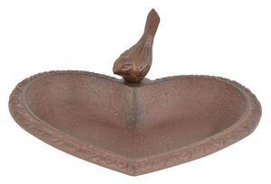 Esschert Design - mangeoire à oiseau en fonte joli coeur - Vogelfutterkrippe
