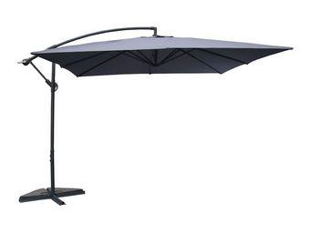 WHITE LABEL - parasol carré gris 3m² - chill - l 300 x l 300 x h - Ampelschirm