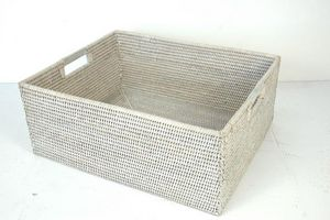 BaolgiChic - rotin blanc - Aufbewahrungskorb