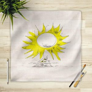 la Magie dans l'Image - foulard soleil - Vierecktuch