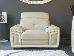 WHITE LABEL - fauteuil cuir hamilton - Sessel