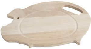 Aubry-Gaspard - planche à découper cochon en hévéa - Schneidebrett
