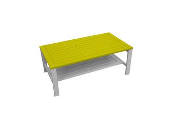 City Green - table basse de jardin + double plateau burano - 95 - Garten Couchtisch