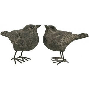 CHEMIN DE CAMPAGNE - 2 statues sculptures oiseau oiseaux de décoration  - Kleine Statue