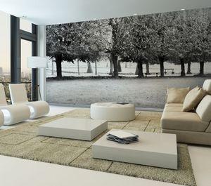 IN CREATION - fontainebleau 3 noir & blanc - Panoramatapete